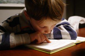 fifth grader reading