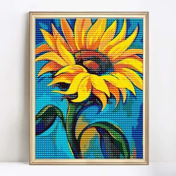 diamond art sunflower