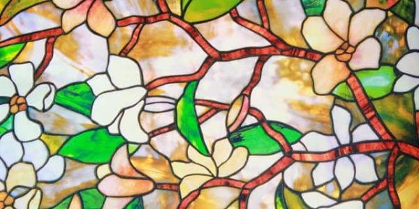 stained glass flower art