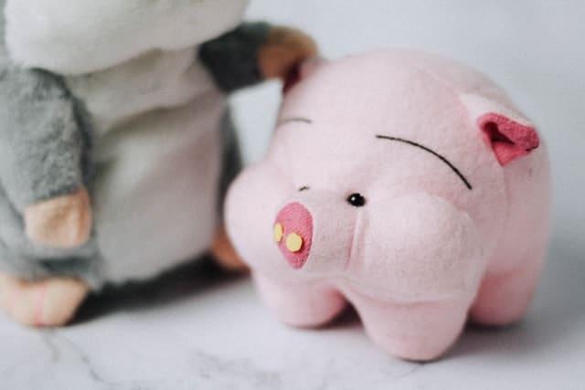 felted stuffed pig